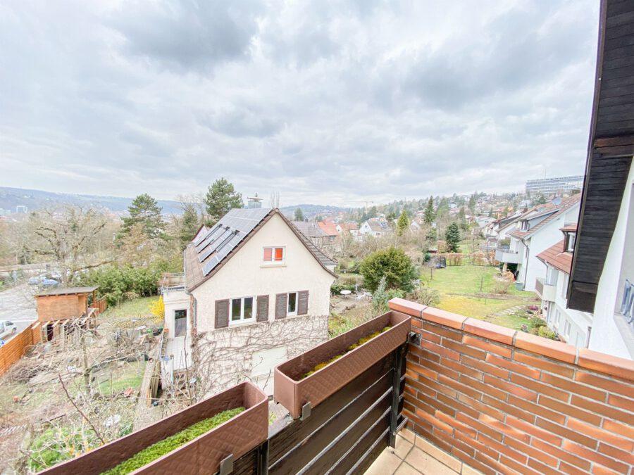 Sonnige und großzügige 3,5 Zimmerwohnung mit tollem Balkon (renovierungsbedürftig) - Aussicht