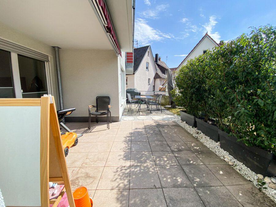 Barrierefreie 4,5 Zimmerwohnung mit großer Terrasse. - Terrasse