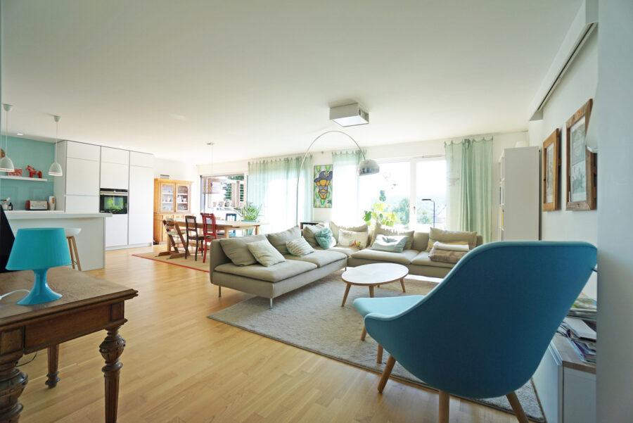 Traumhafte Neubauwohnung mit Terrasse und Garten - Wohnen