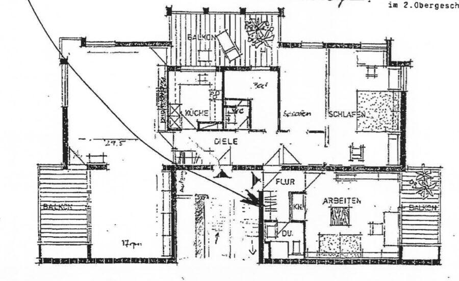 Helle und großzügige 4,5-Zimmer Wohnung mit 3 Terrassen und tollem Blick - Grundriss