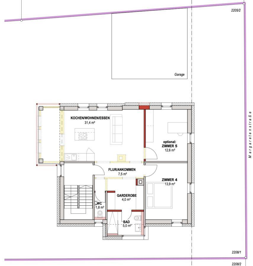 4-Parteienhaus mit großem Garten und Potenzial in gefragter Lage. - Erdgeschoss