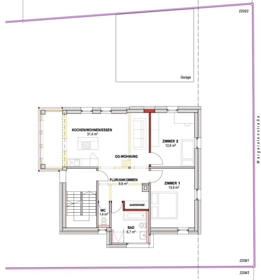 4-Parteienhaus mit großem Garten und Potenzial in gefragter Lage. - Obergeschoss