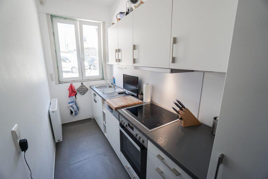 Möbliertes Apartment an den Mineralbädern mit Einbauküche und Tageslichtbad - Küche