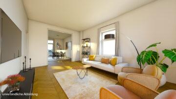 Großzügige Beletage-Altbauwohnung in zentraler Lage mit großer Terrasse, 70178 Stuttgart Stuttgart-Mitte, Etagenwohnung