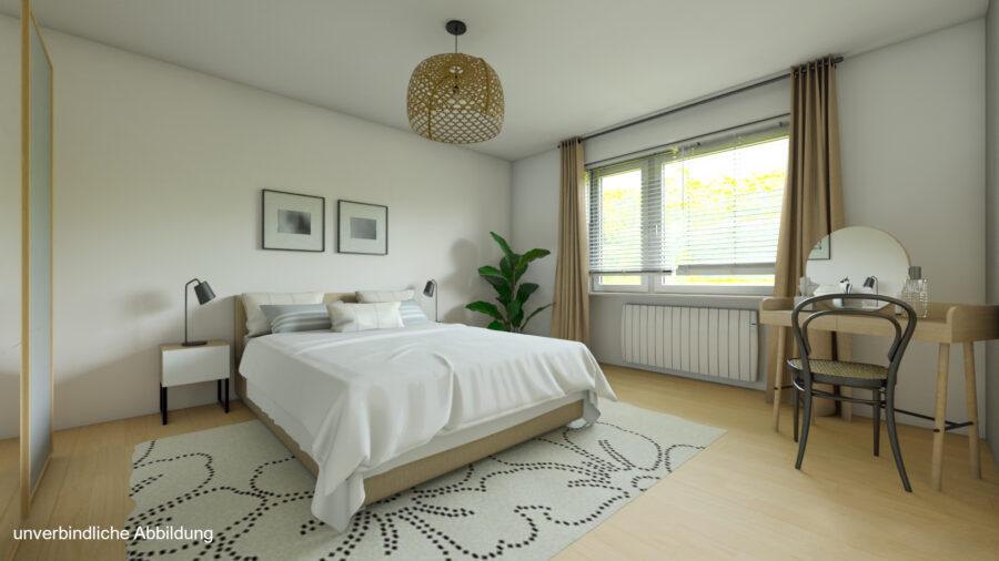 Großzügige 3-Zimmerwohnung mit Balkon (renovierungsbedürftig) - Schlafzimmer Beispiel
