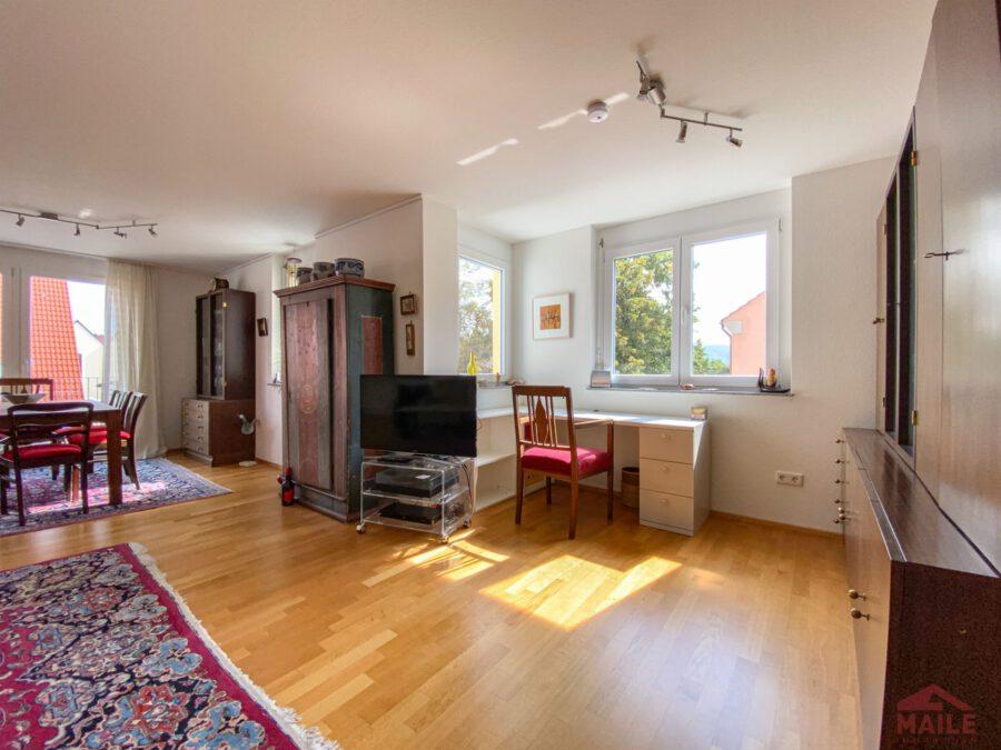 Hochwertige, barrierefreie Wohnung mit großem Balkon und EBK. - Arbeitsbereich