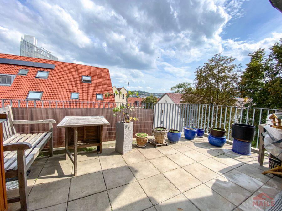 Hochwertige, barrierefreie Wohnung mit großem Balkon und EBK. - Terrasse