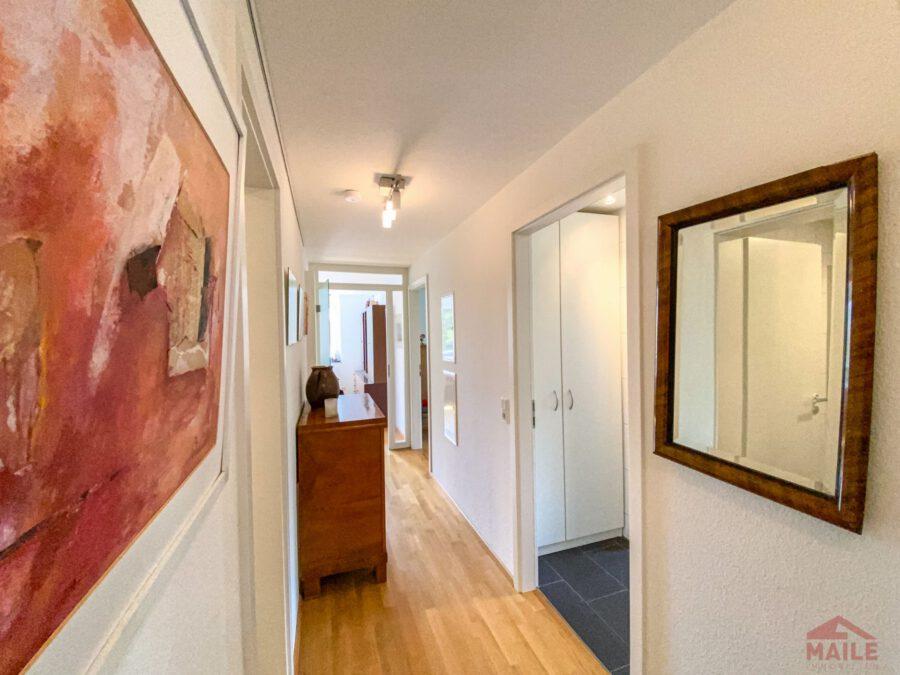 Hochwertige, barrierefreie Wohnung mit großem Balkon und EBK. - Flur