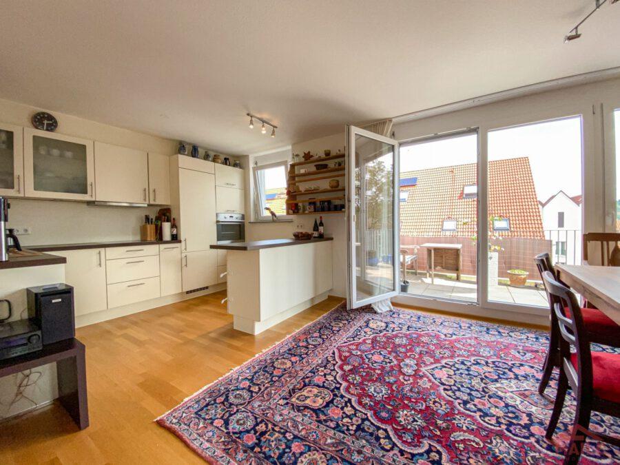 Hochwertige, barrierefreie Wohnung mit großem Balkon und EBK. - Zugang Terrasse
